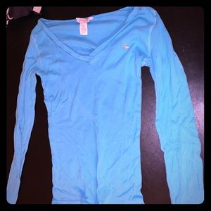 Abercrombie&Fitch Bright Blue Long Sleeve Top